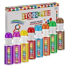 Washable Dot Markers, Magicfly 8 Colors Non-Toxic Paint Mark