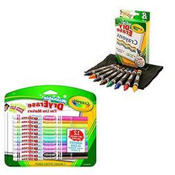 Crayola Washable 2 Pack Dry-Erase Markers & 2 Pack Dry-Erase