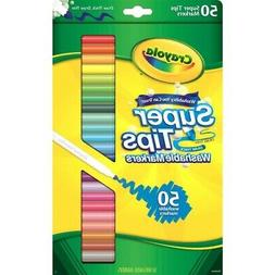 Crayola Washable Super Tip Markers 50 Count