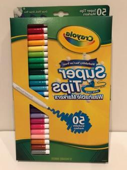 Crayola Washable Super Tips Markers  50 Count New