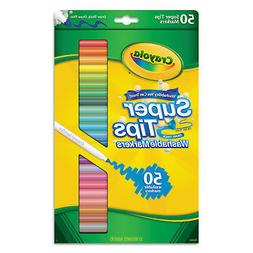 Crayola Washable Super Tips Markers Assorted 50/Set 585050