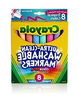 Crayola 8ct Washable Tropical Colors Conical Tip 4 Sets