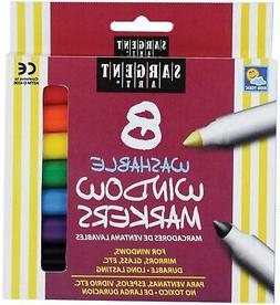 8 Pack Washable Window Markers Assorted Marker Colors Unique
