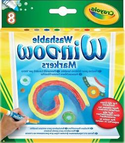Crayola 58-8165 Washable Window Markers 8 Count