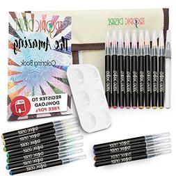 Watercolor Brush Pen Set – Vivid Watercolors for Professio