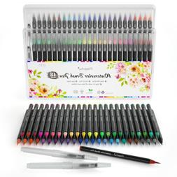 Watercolor Brush Pens 48 Paint Markers 1 Refillable Pen Set