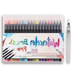 Premium Watercolor Soft Brush Pen - Flexible Tip Painting Br