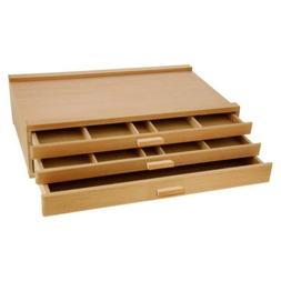 Wood Pastel Marker Storage Box US Art Tools Pen organizer Su