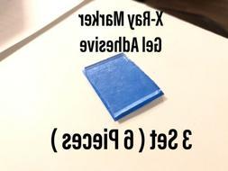 X-Ray Marker Adhesive Gel Strips Reusable 3 SET  Xray Radiol