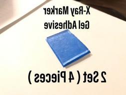 X-Ray Marker Adhesive Gel Washable Reusable 2 SET  Xray Radi