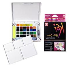 Sakura XNCW-30N Koi Field 30 Assorted Watercolors with Brush